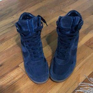 Navy 7.5 Sam Edelman sneaker wedges